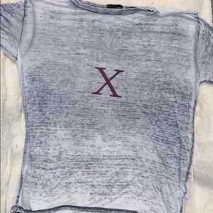 Grey burnt-out tee